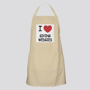 I heart giving wedgies Apron